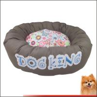 China Outside Dog Beds Canvas Fabric With Flower Printed Dog beds Factory on sale