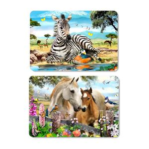 China Decorative Animal PET 3D Lenticular Plastic Table Mats Offset Printing on sale