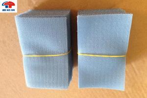 China Custom logo Squares Sew On Hook and Loop Tape Fastener In Grey Colour on sale