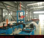 Máquina automática de la asamblea del haz de H con dos sistemas de altura de la web de la soldadura por puntos 2000m m del CO2