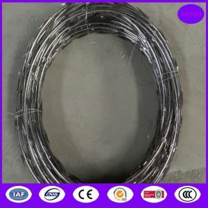 China CBT65 5kgs /coil stainless steel razor barbed wire on sale
