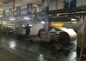 China Professional Corrugated Paper Making Machine , Cardboard Manufacturing Unit on sale