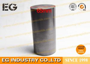 China Machined Carbon Rod , Round Graphite Rod 55mm / 65mm Diameter For Casting Industry on sale