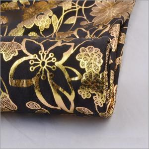 d95bb48a722 ... Quality Hot Sale FDY Stretch Jersey Gold Stamping Metallic Bright  Fabrics For Dresses for sale ...