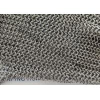 316 Stainless Steel Chainmail Ring Mesh Use Water Features , Shower Curtains