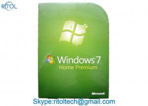 China Microsoft Windows 7 Install Disk , PC Systems Windows 7 Home Premium 64 Bit 32 Bit on sale