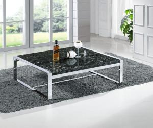 Quality Contemporary Marble Coffee Table With Stainless Steel Base Center  Table For Living Room For Sale