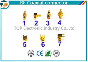 China PCB Assembled RG174 RF Coaxial Connector MCX Gold Plated Less Weight on sale
