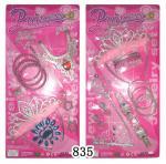 熱い販売法の美はプラスチックおもちゃの櫛、ネックレス、nailplate、ブレスレットによって置きました