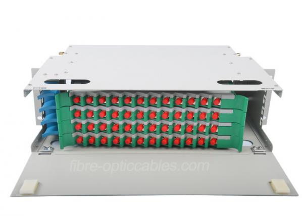 d799e29dcfa1 FC Metal multimode fiber optic patch panel ODF With 48 core adapter and  pigtails Images