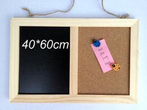 China wooden combination boards combine notice blackboard,chalkboard 40*60cm on sale