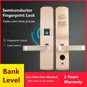 China Anti - Theft Door Fingerprint Recognition Lock , Intelligent Electronic Password Lock on sale