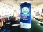 PVC Tarpaulin Inflatable Advertising Products , Inflatable Model Milk Bottle For Outdoor