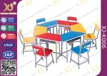 Multi Functional Combination Student Desk And Chair Set With Steel Drawer / Classroom Furniture