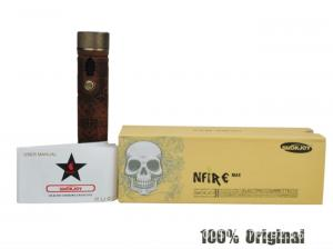 China Newest wooden e cigarette battery n fire max variable voltage LCD display mod x fire V3 on sale
