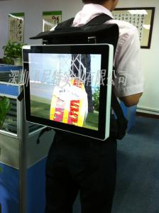 China Full Color Moving Backpack Advertising Display 3g Network Digital Signage Screen on sale