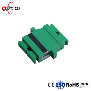 China High Precision Alignment Fiber Optic Adapters SC APC Corrosion Resistant Body FTTH System on sale