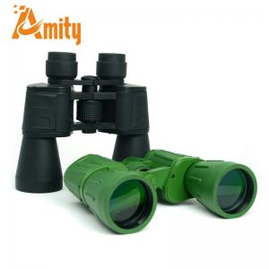 China 7X/10X 50mm Large Optical Lens Porro Military Green Binoculars Telescope for Travel on sale