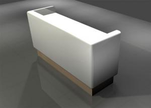 Quality Small Size Pure White Retail Checkout Counter Simply Styple  For Clothing Shop for sale