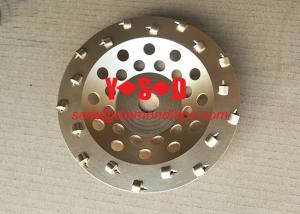China 4 Quarter Round PCD Diamond Concrete Cup Wheels for Concrete coatings removal 7 on sale