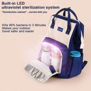 China Waterproof Travel LED UV Baby Disinfection Diaper Bag on sale