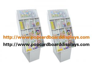 China Strong White Color Retail Cardboard Floor Displays For Pet Food Or Food Books on sale