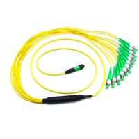 40G Fiber Mpo To Mpo Cable FC APC 12 Optical Fiber Jumpers 0.35dB Insertion Loss