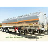 China 42m3 Aluminum Oil Tanker Semi Trailer 3Axles For Diesel ,Oil , Gasoline, Kerosene Transport 40Ton on sale