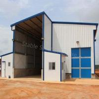 Large Galvanized Steel Structure Workshop Shed with Discount and best design