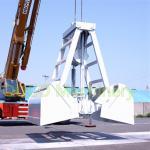 12 m3Radio Remote Control Cargo Clamshell Crane Grab Bucket