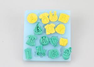 China English Alphabet Letter Silicone Rubber Mould Dishwasher Safe 10.8*10*0.9cm on sale