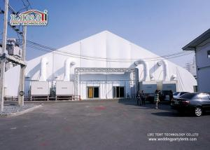 China 40m Portable Aluminum  TFS Curve Tent Structures With Air Conditioner For Exhibition on sale