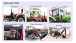 China Factory Supply 55HP 4WD Mini/front tyre Garden/Orchard/Agricultural/flat tyre Farm Tractor tractor with front end