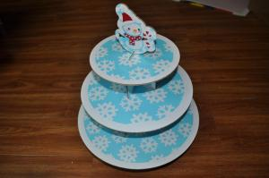China 3 Tiers Cupcake Stand For Snowman on sale