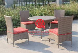China Elegant cheap hotel rattan dinning furniture on sale
