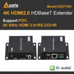 HDBaseT HDMI 4K2K 60HZ Extender and support POC