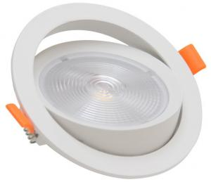 China 3 Watt Round LED Gimbal Downlight Led Recessed Downlight 24 Degree Narrow Beam Angle 85 * 20 Mm on sale