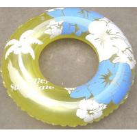 PVC Water Inflatable Swimming Rings For Kids , Plastic Air Swim Tubs