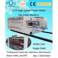Single Slotting Adjustable Auto Carton Packing Machine / Corrugated Carton Machine