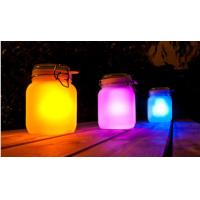Frosted Glass Landscape Solar Lights Outdoor Jam Jar Solar Lights For Decorative