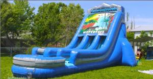 China Commercial grade water inflatable slides 22' waterfall slide on sale