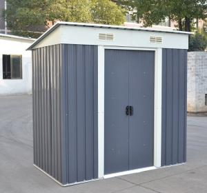 Beautiful Pent Roof Metal Storage Shed With 8X6ft , Zinc Steel Frame Metal Garden Shed