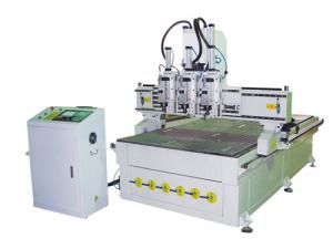 China NEW STAR GF-1325T3 Pneumatic three heads  ATC carving machine china manufacture cnc surpplier google on sale