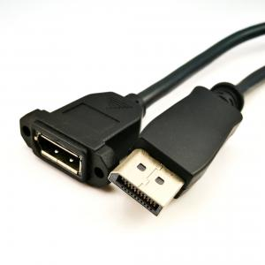 China Professional Displayport 1.2 Cable Black Color For LCD Display Screen on sale