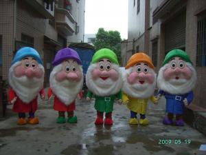 Quality custom plush dwarfs disney cartoon character costumes for adults for sale