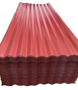 China DX52D Color Corrugated Galvanized Steel Roofing Sheet PPGI PPGL Metal Plate on sale