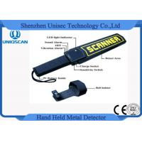 China Security Hand Held Metal Detector Wand / portable metal detector body scanner High Stability on sale