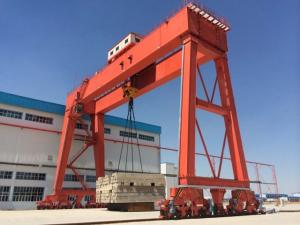 China RTG crane; Rubber-tyred container crane 41 ton on sale