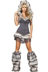 China Womens Captain California adult halloween costumes , Indian fancy dress costumes on sale