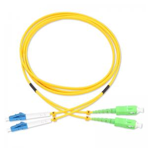 China Lc-Sc Sm Os2 9/125um Duplex Indoor Outdoor FTTH Drop Multimode Duplex Fiber Optic Patch Cable Cord on sale